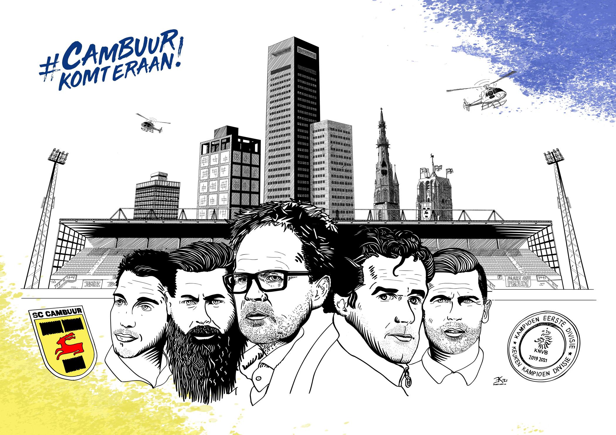 Cambuur promotie poster 2021 kleur