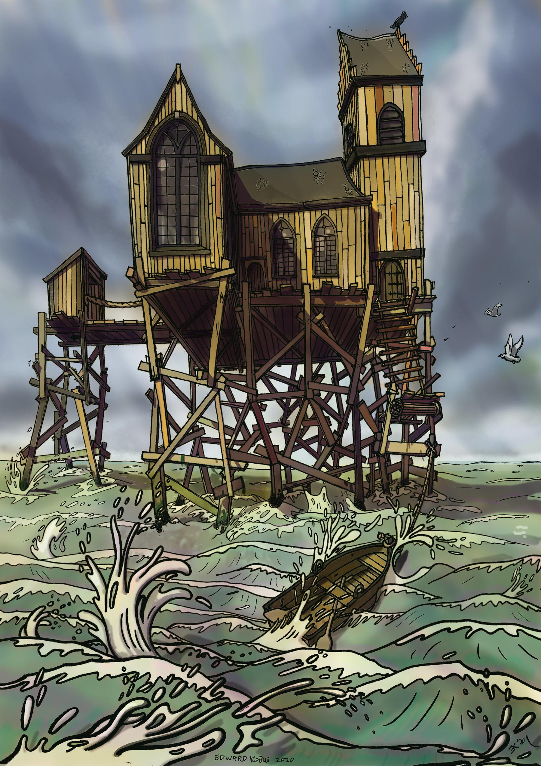 kerk op zee